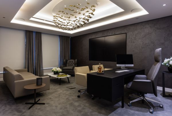 Crestron Home office with lighting from heaven itself