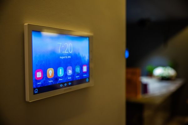Control panel for a smart home system